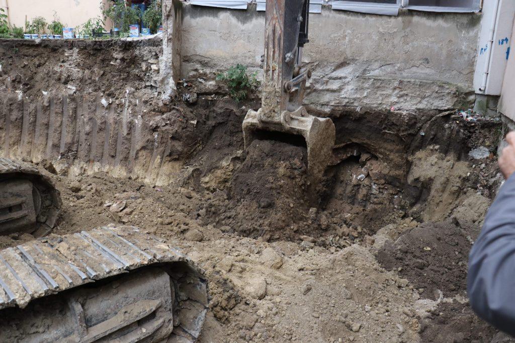 Kazı Sırasında Osmanlı Tüneli