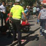 Tekirdağ'da Trafik Kazası Otomobil ile Motor Çarpıştı